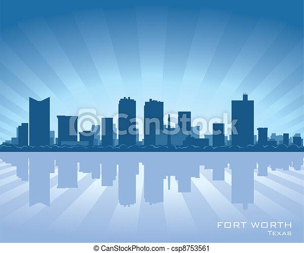 Fort Worth skyline - csp8753561