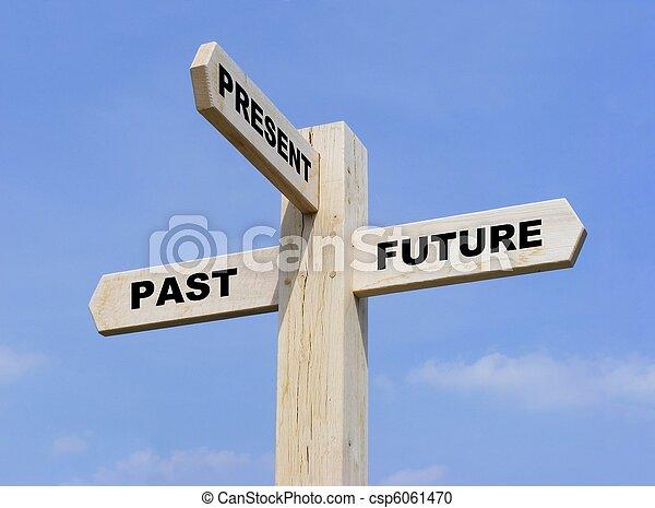 fortid, fremtid, gave - csp6061470