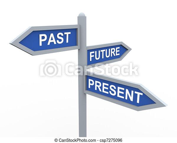 fortid, fremtid, gave - csp7275096