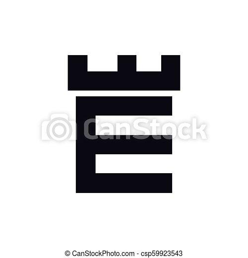 Fortress castle initial e logo template vector fortress castle initial e logo template vector maxwellsz