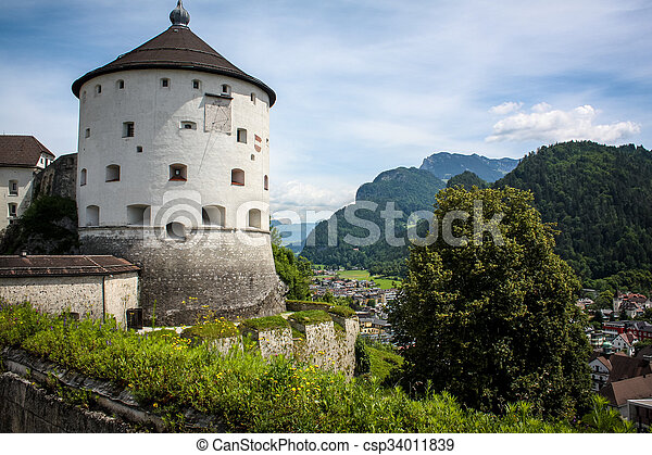 Fortress on the background of mountains - csp34011839