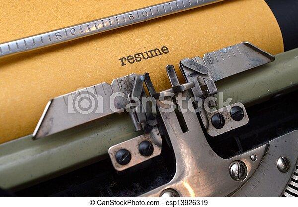 Schreibmaschine - csp13926319