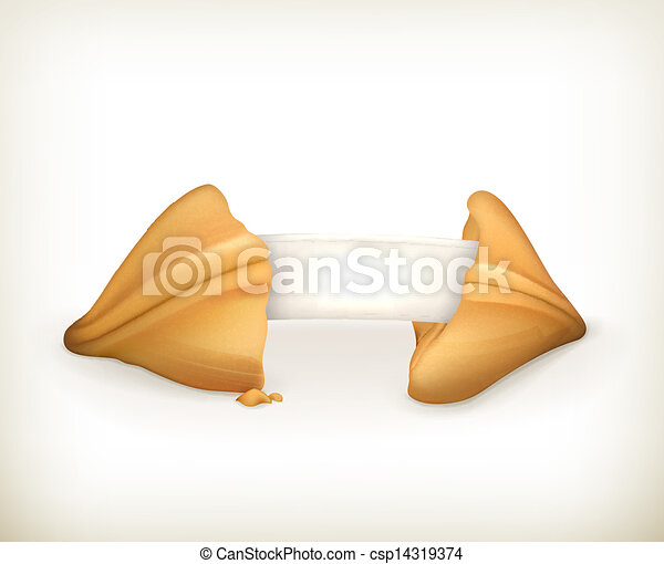 fortuna, vettore, bandiera, biscotto - csp14319374