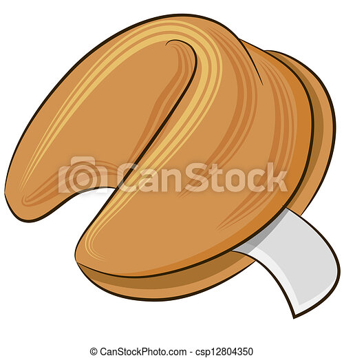 an image of a fortune cookie clipart vector search illustration rh canstockphoto com Chinese Food Clip Art Lipstick Clip Art