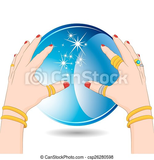 Fortune Teller with Crystal Ball - csp26280598