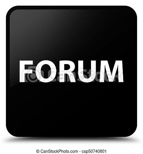 Forum black square button - csp50740801