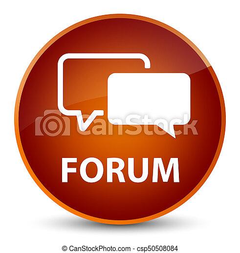 Forum elegant brown round button - csp50508084