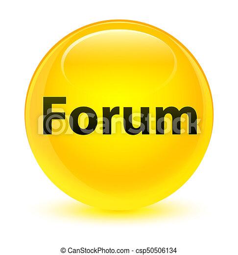 Forum glassy yellow round button - csp50506134