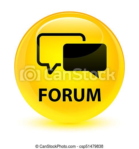 Forum glassy yellow round button - csp51479838