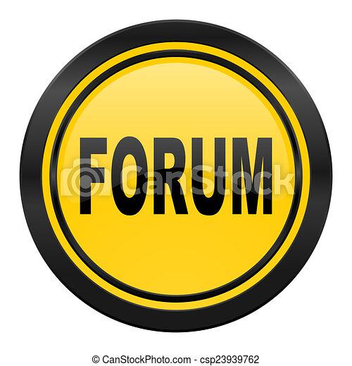 forum icon, yellow logo - csp23939762