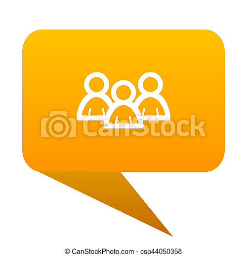 Forum orange bulb web icon isolated. - csp44050358