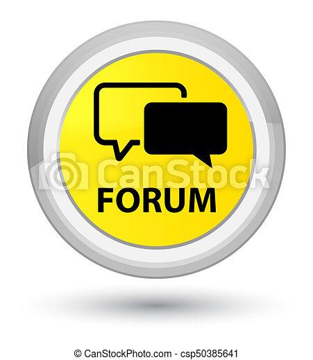 Forum prime yellow round button - csp50385641