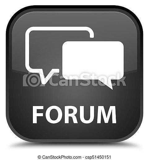 Forum special black square button - csp51450151