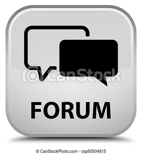 Forum special white square button - csp50504815
