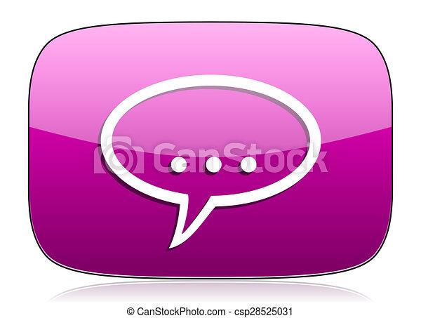 forum violet icon chat symbol bubble sign - csp28525031