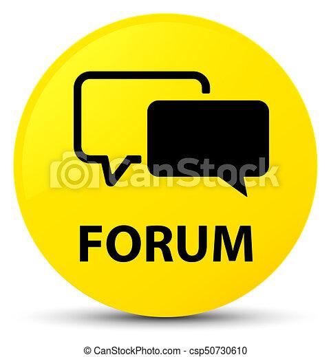Forum yellow round button - csp50730610