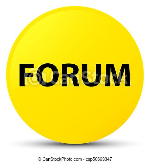 Forum yellow round button - csp50693347