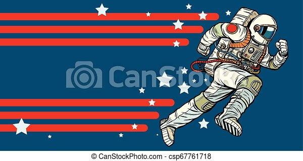 El astronauta avanza. Estrellas del universo - csp67761718