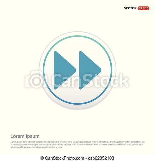 Forward Icon - white circle button - csp62052103