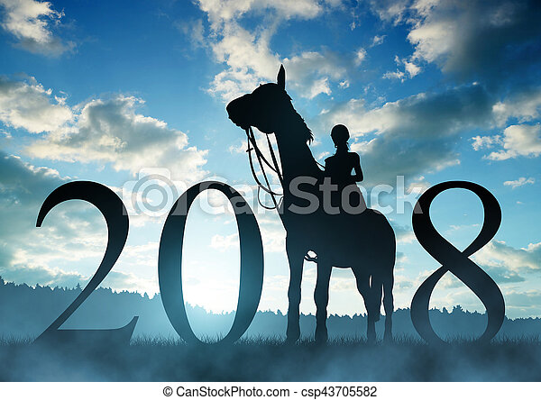 Forward to the New Year 2018. - csp43705582