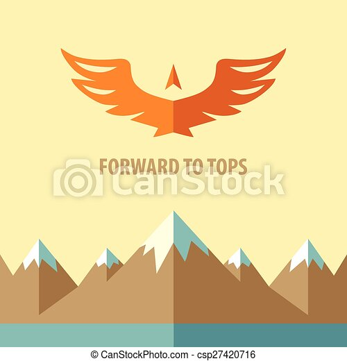 Forward to tops. Tourism, mountain climbing. - csp27420716