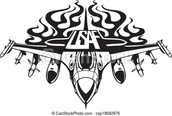 forza, -, ci, aria, militare, design. - csp18692976