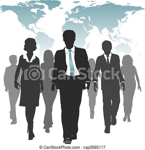forza, persone affari, lavoro, umano, mondo, risorse - csp3565117