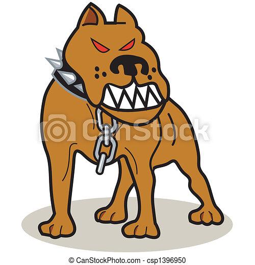 fosse, art, chien, agrafe, taureau - csp1396950