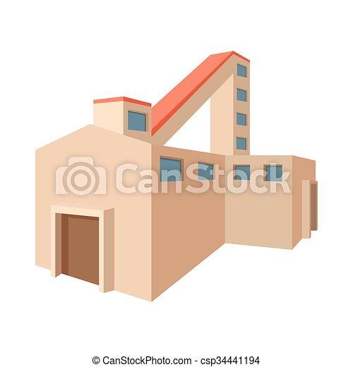 Fossil fuel power station cartoon icon - csp34441194