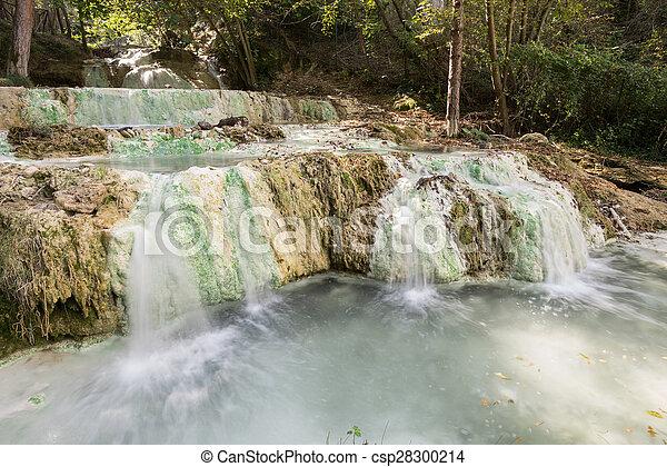 Fosso bianco hot springs in bagni san filippo. Terme san... stock ...