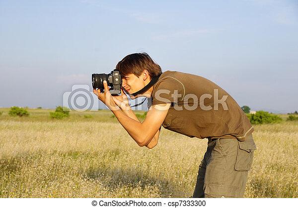 El fotógrafo detrás del trabajo - csp7333300