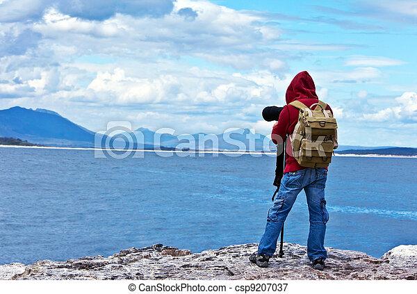 fotógrafo, fauna, viajante - csp9207037
