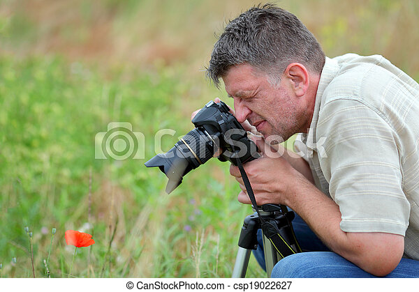 fotógrafo, natureza - csp19022627