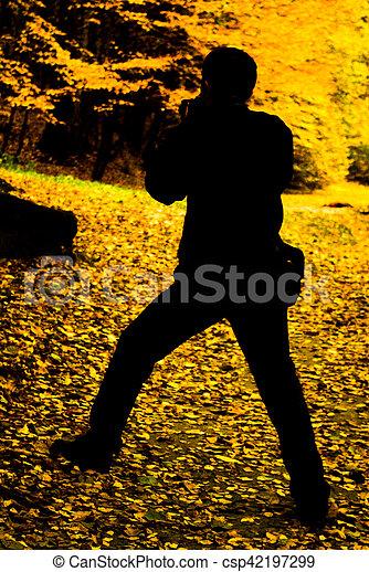 fotógrafo, natureza - csp42197299