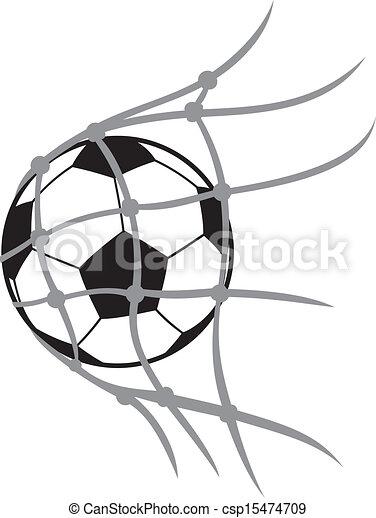 fotboll klumpa ihop sig - csp15474709