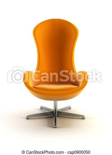 fotel, nowoczesny, 3d, przedstawienie - csp0900050