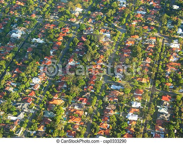 Una foto aérea - csp0333290