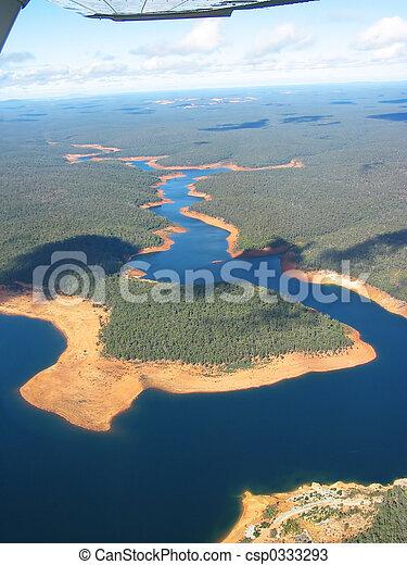 Una foto aérea - csp0333293