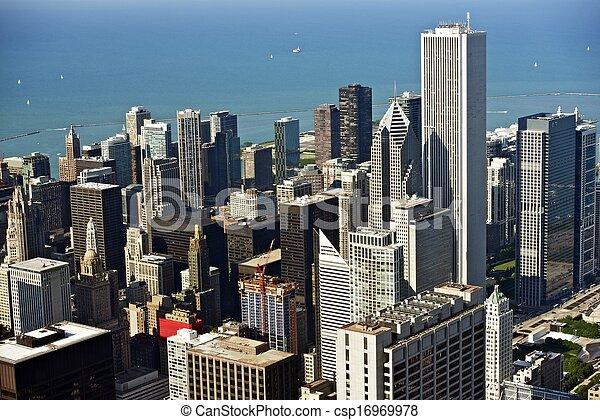 Foto aérea de Chicago - csp16969978