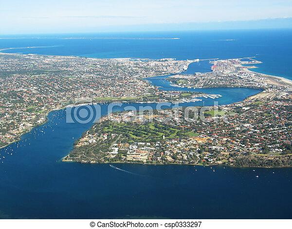 Una foto aérea - csp0333297