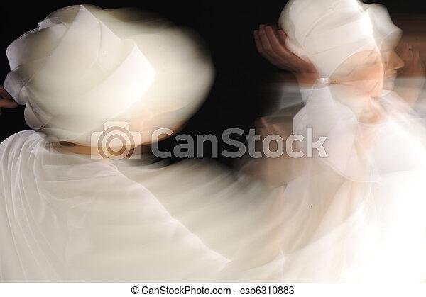 Foto artística de bailarinas blancas sufosas - csp6310883