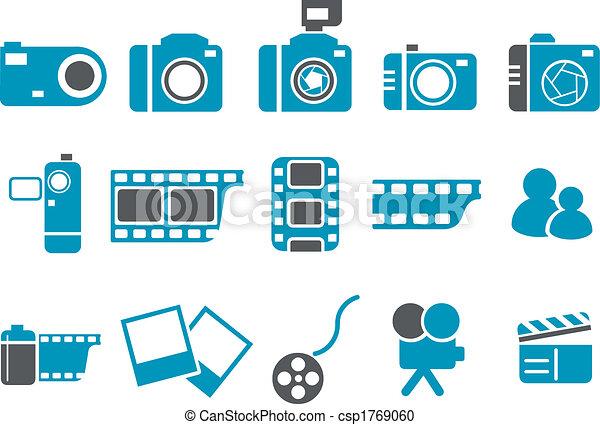 foto, conjunto, icono - csp1769060