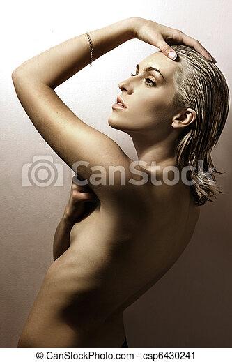 foto, estilo, moda, dama, joven - csp6430241