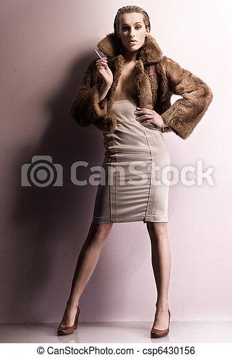 foto, estilo, moda, jovem, beleza - csp6430156