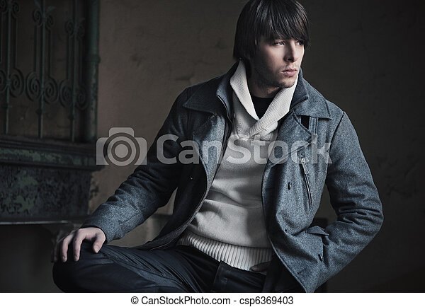 foto, estilo, moda, sujeito, bonito - csp6369403
