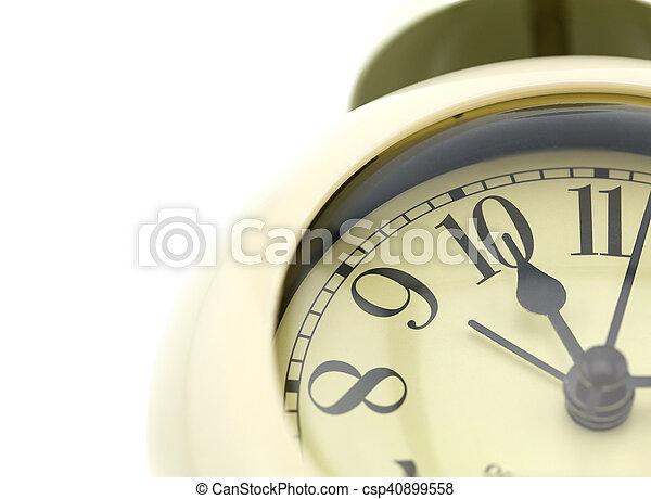 Cara de reloj de foto. Primer plano - csp40899558