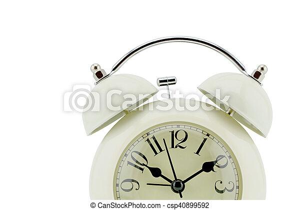 Cara de reloj de foto. Primer plano - csp40899592