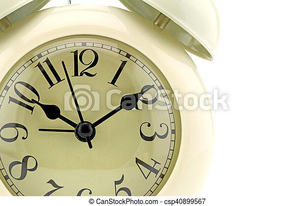 Cara de reloj de foto. Primer plano - csp40899567