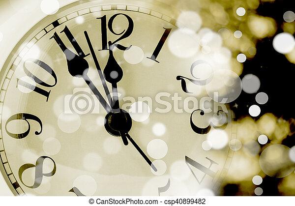 Cara de reloj de foto. Primer plano - csp40899482