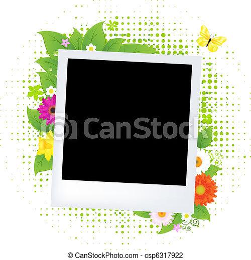 foto, flor, blanco - csp6317922